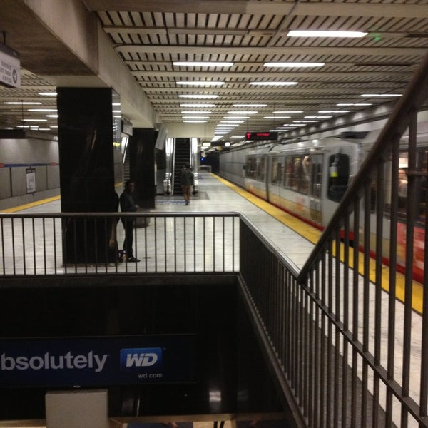 Photo taken at Civic Center/UN Plaza BART Station by Alex L. on 7/29/2013