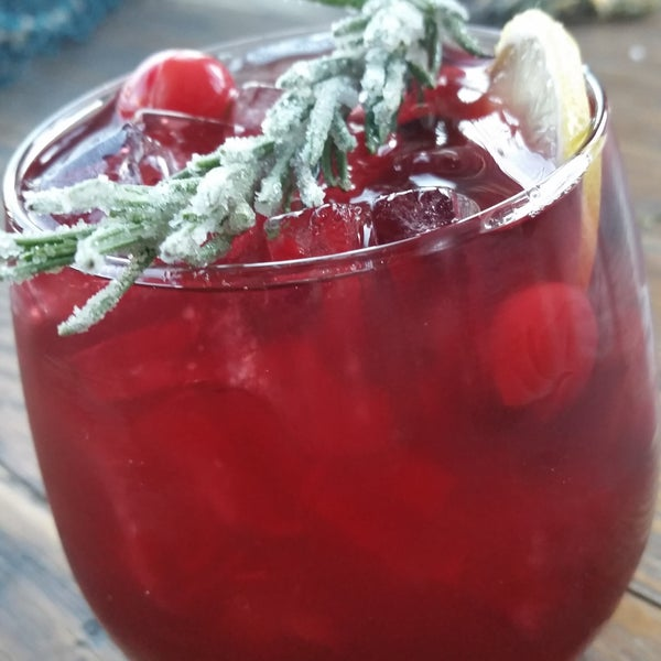 Cranberry Rosemary Lemon Sangria
