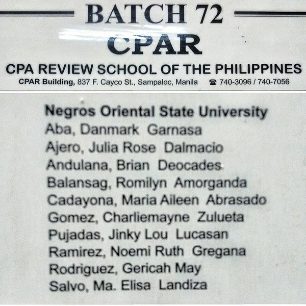 Photos at CPA Review School of the Philippines (CPAR) - College ...