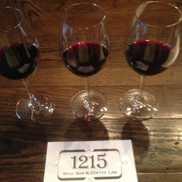 Photo taken at 1215 Wine Bar & Coffee Lab by Riggs B. on 4/9/2013