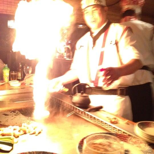 Photo taken at Mt. Fuji Japanese Steak House by Simon C. on 12/10/2012