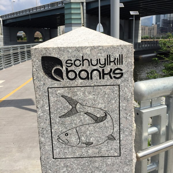 Photo taken at South Street Bridge by Rene T. on 6/14/2015