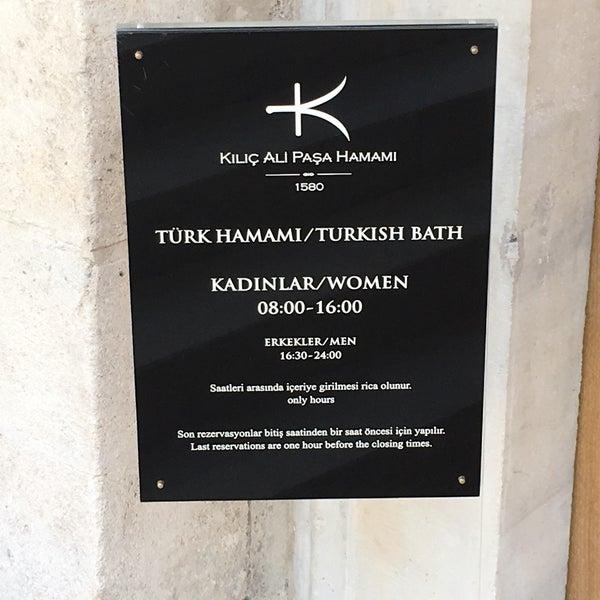 7/29/2017 tarihinde Sami M.ziyaretçi tarafından Kılıç Ali Paşa Hamamı'de çekilen fotoğraf