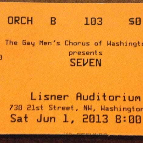 Photo taken at Lisner Auditorium by Penny H. on 6/1/2013