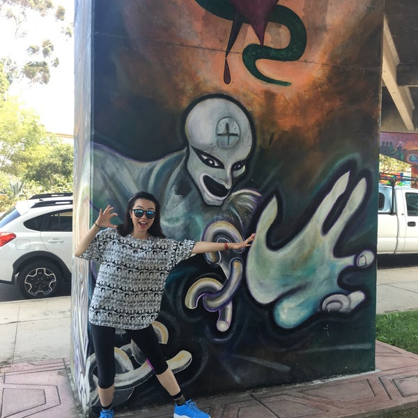 Photo taken at Chicano Park by Cecilia Y. on 8/2/2016
