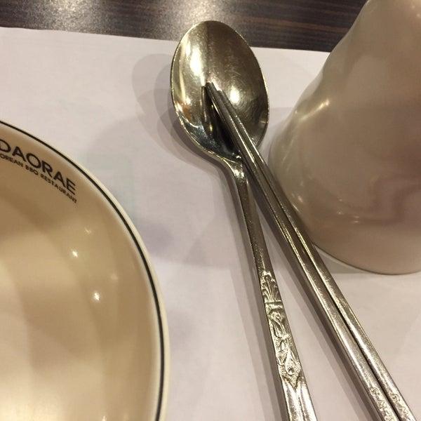 Photo taken at Daorae Korean BBQ Restaurant by Gimson T. on 4/10/2016