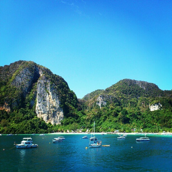 Photo taken at Phi Phi Island by Xtian S. on 3/2/2013