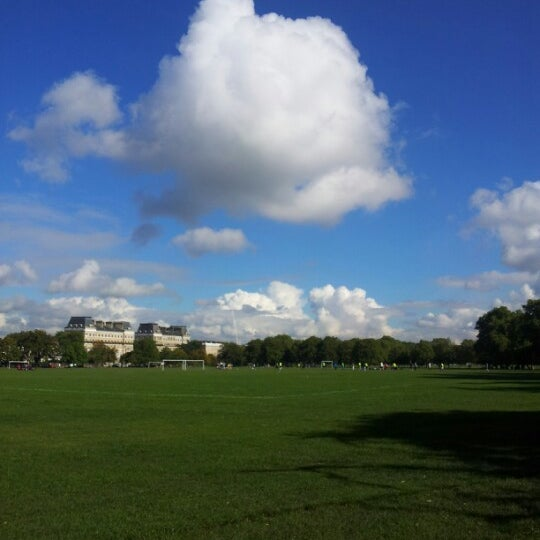 Photo taken at Clapham Common by Chris D. on 10/13/2012