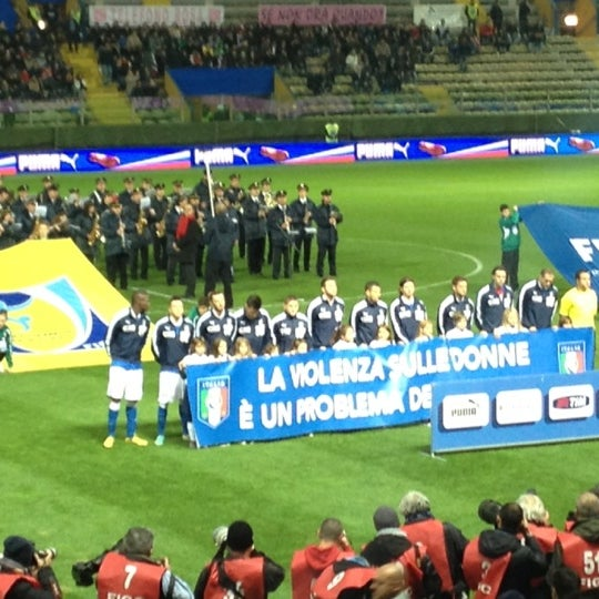 Photo taken at Stadio Ennio Tardini by Luca C. on 11/14/2012