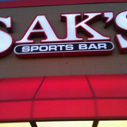 Photo taken at Sak's Sports Bar by Wayne G. on 9/22/2012