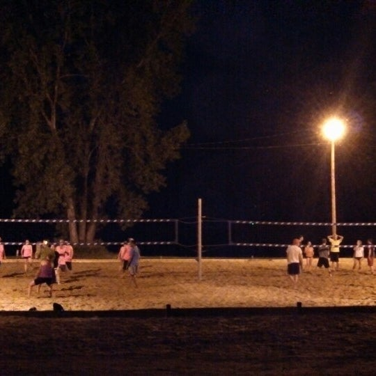 Photo taken at Whiskey Island Volleyball Courts by Morgan W. on 5/31/2013