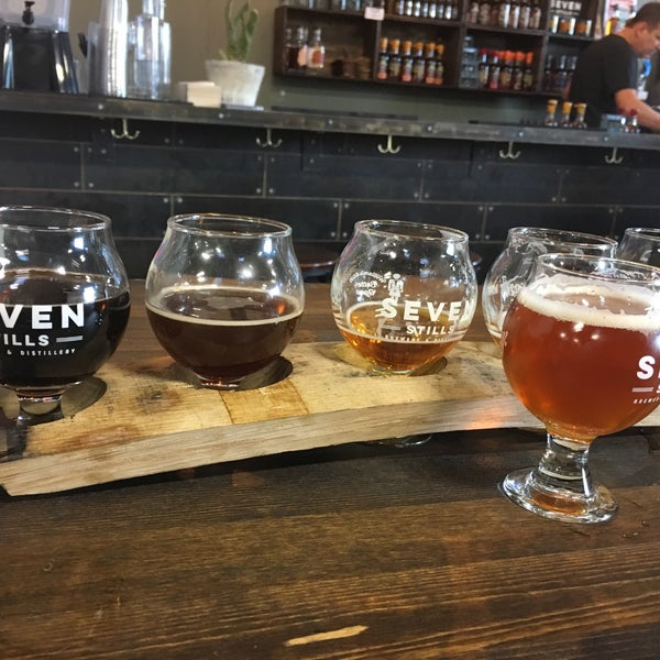 Photo taken at Seven Stills Brewery & Distillery by Brian W. on 3/3/2017