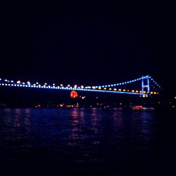 Photo taken at Fatih Sultan Mehmet Bridge by Ahmet Turan D. on 5/17/2013