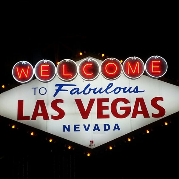 Photo taken at Welcome To Fabulous Las Vegas Sign by Mark P. on 3/22/2013