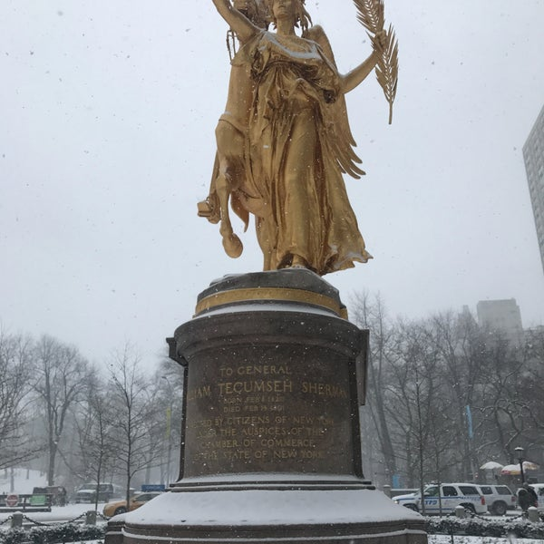 Photo taken at Grand Army Plaza by Mitchell L. on 1/7/2017