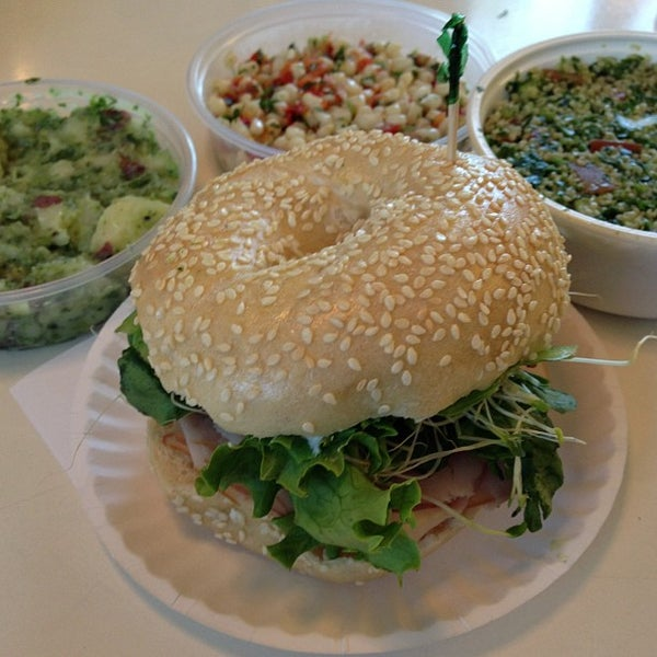 Photo taken at Bodo's Bagels by David P. on 5/26/2013