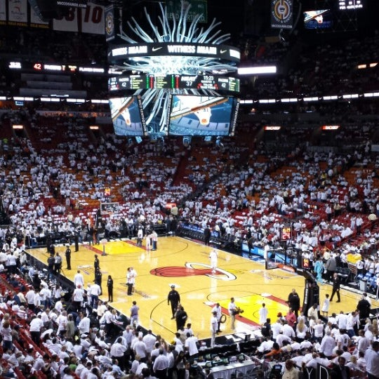 Photo taken at American Airlines Arena by JiF on 5/23/2013