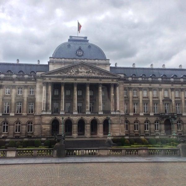 Photo taken at Paleizenplein / Place des Palais by Hosam R. on 6/3/2013
