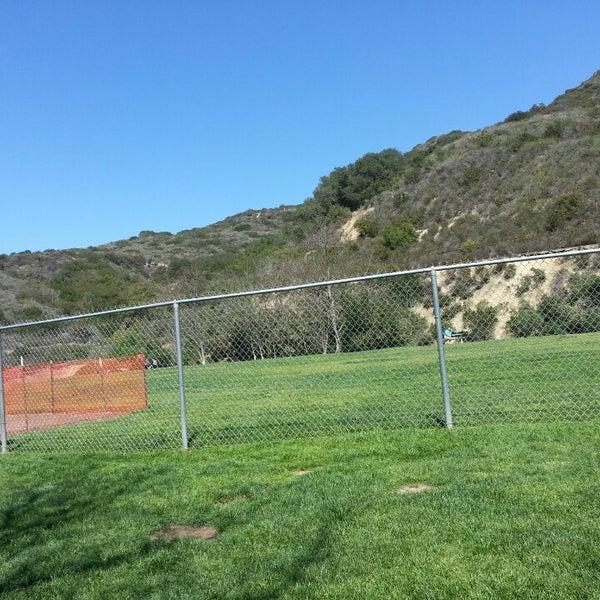 Photo taken at Laguna Canyon Dog Park by Yeji N. on 4/9/2013