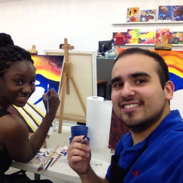 Photos at qbhome paint sip art studio design studio in for Sip and paint houston