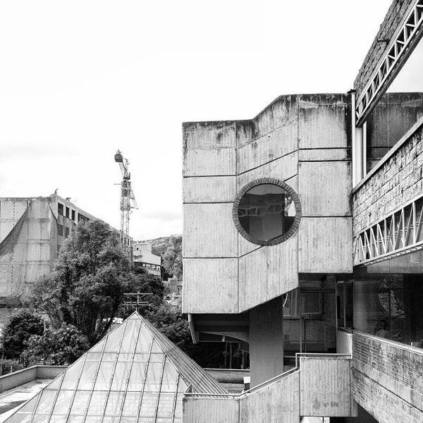 Photo taken at Biblioteca Juan Roa Vásquez by Andres N. on 10/17/2013