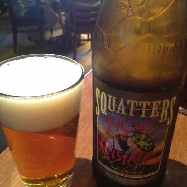 Photo taken at Squatters Pub Brewery by Mike P. on 7/14/2013