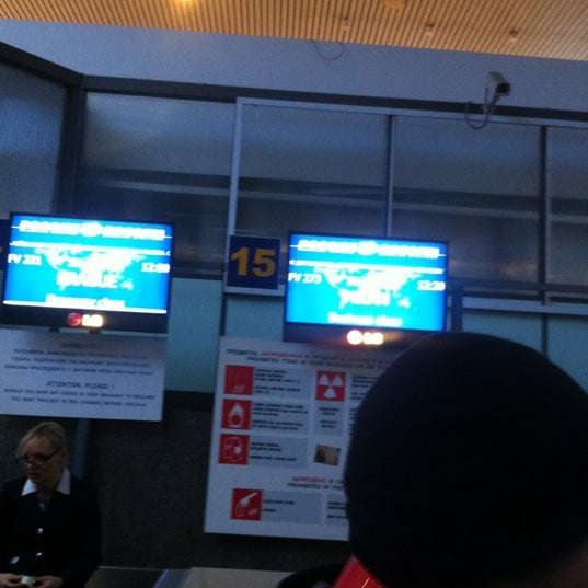 Photo taken at Check-in desk by Димка Р. on 12/1/2012