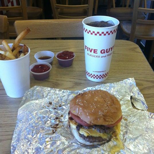 Photo taken at Five Guys by Josh M. on 10/21/2012