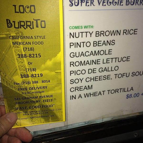 Photo taken at El Loco Burrito by VeganPilotMarty on 10/13/2016