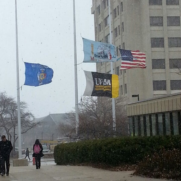 Photo taken at UWM Golda Meir Library by Andy M. on 4/19/2013