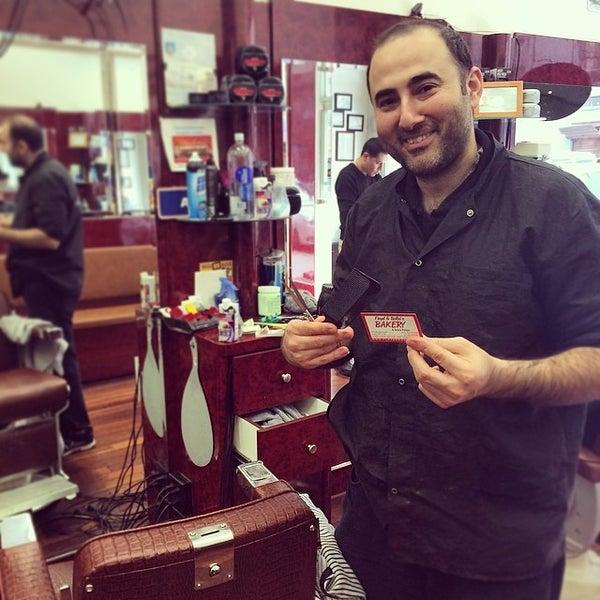Photo taken at Manhattan Barber Shop by Daniel G. on 3/17/2014