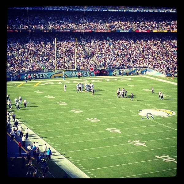 Photo taken at Qualcomm Stadium by Dre A. on 11/25/2012