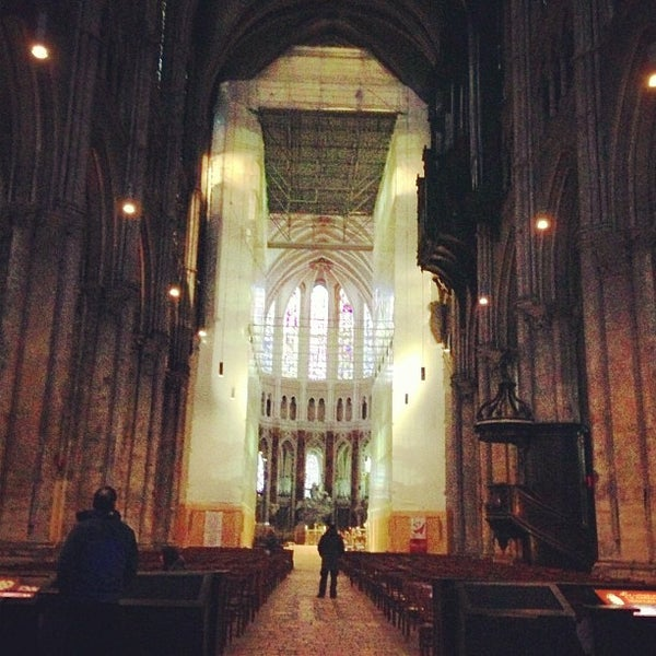 Photo taken at Cathedral Basilica of Our Lady by Emmanuelle V. on 2/13/2013