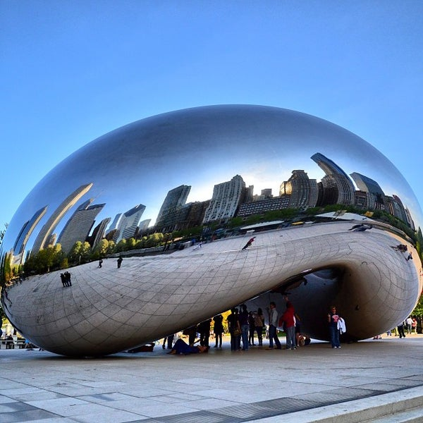 Photo taken at Cloud Gate by Anish Kapoor by Tim L. on 5/9/2013