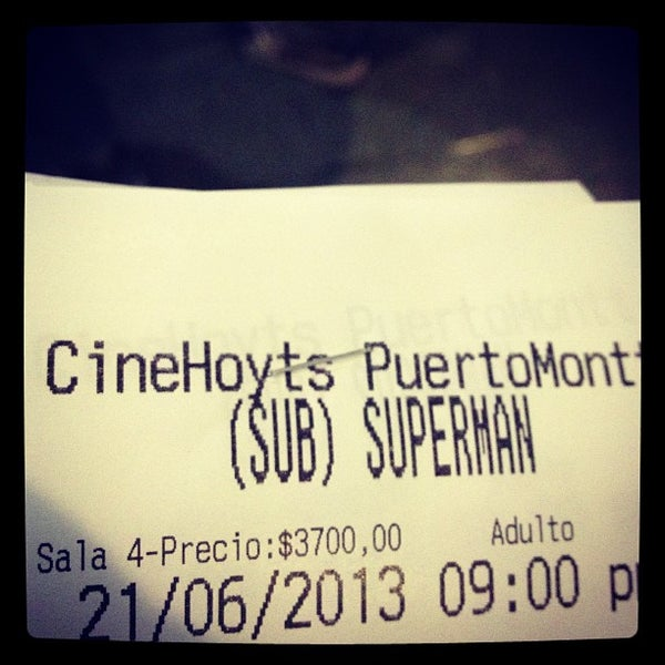 Photo taken at Cine Hoyts by Andrés M. on 6/22/2013