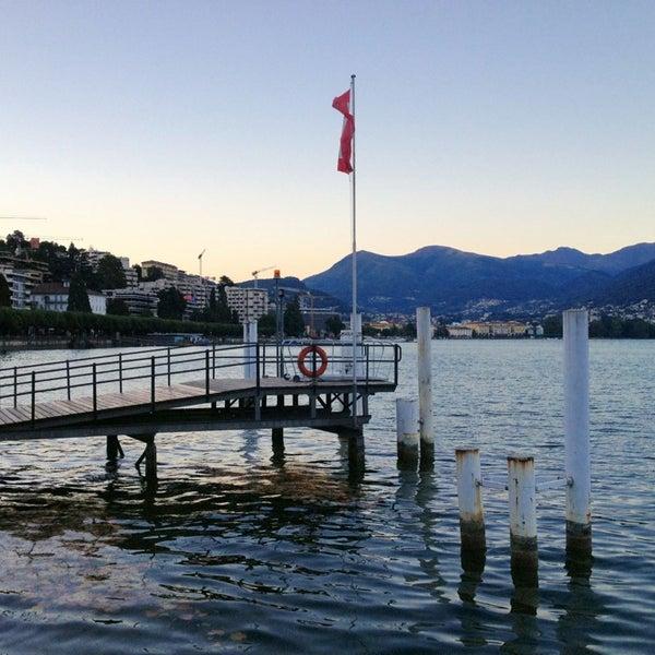 Photo taken at Lago di Lugano by Nuha .. on 8/20/2013