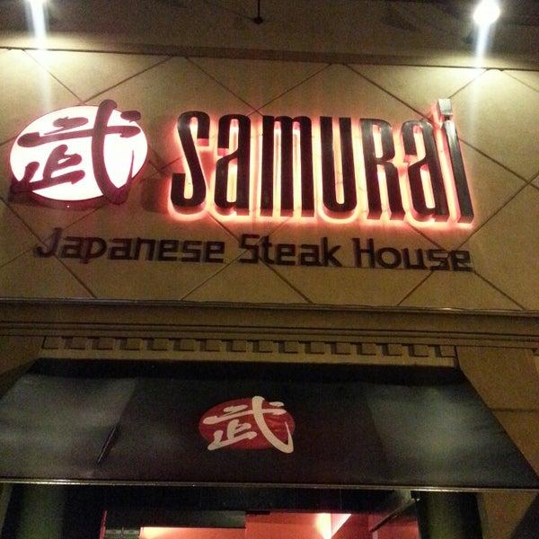 Photo taken at Samurai Japanese Steakhouse by Jessica V. on 5/20/2013
