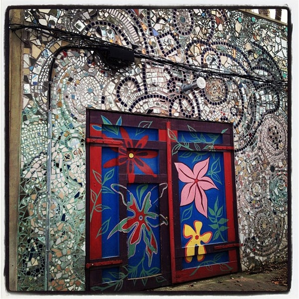 Photo taken at Philadelphia's Magic Gardens by Kelsey L. on 12/22/2012
