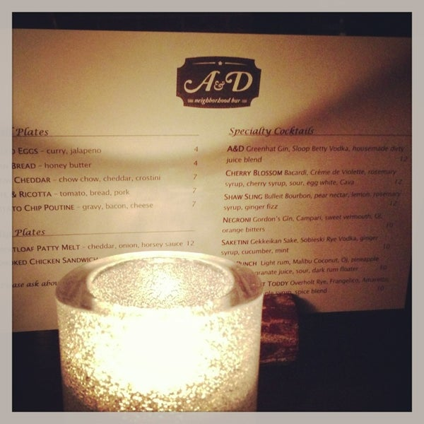 Photo taken at A & D Neighborhood Bar by Sarah M. on 1/26/2013