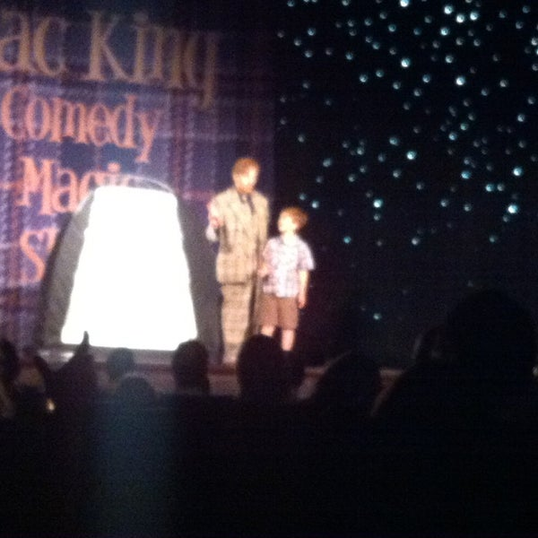 Photo taken at The Mac King Comedy Magic Show by CoachDeb C. on 4/11/2014