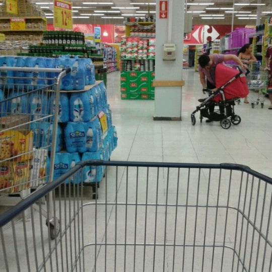Photo taken at Carrefour by Jack U. on 12/30/2012
