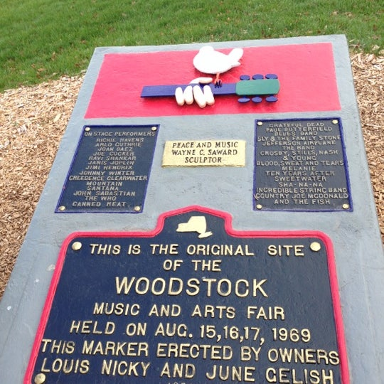 Photo taken at Woodstock Festival Concert Site/Monument by Wayne B. on 11/5/2012