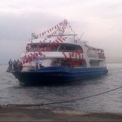 Photo taken at Büyükada Mavi Marmara Motor İskelesi by Gizem B. on 10/29/2012