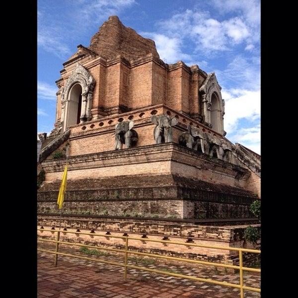 Photo taken at Wat Chedi Luang Varavihara by ploy a. on 7/12/2013
