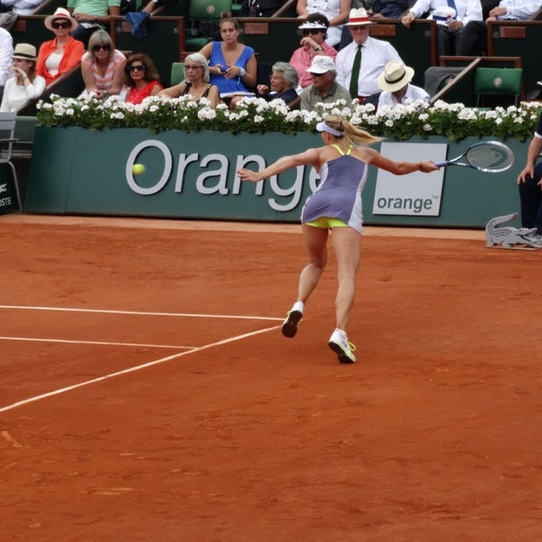 Photo taken at Stade Roland Garros by Nic M. on 6/7/2013