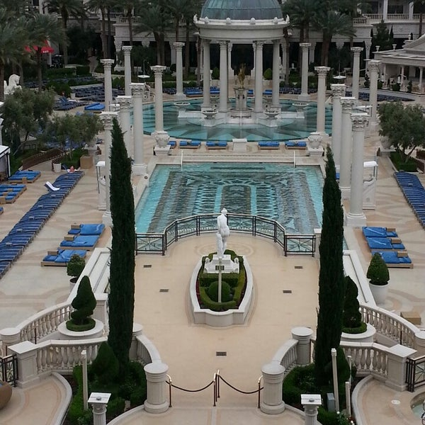Photo taken at Caesars Palace Gardens by Regina M. on 4/21/2013