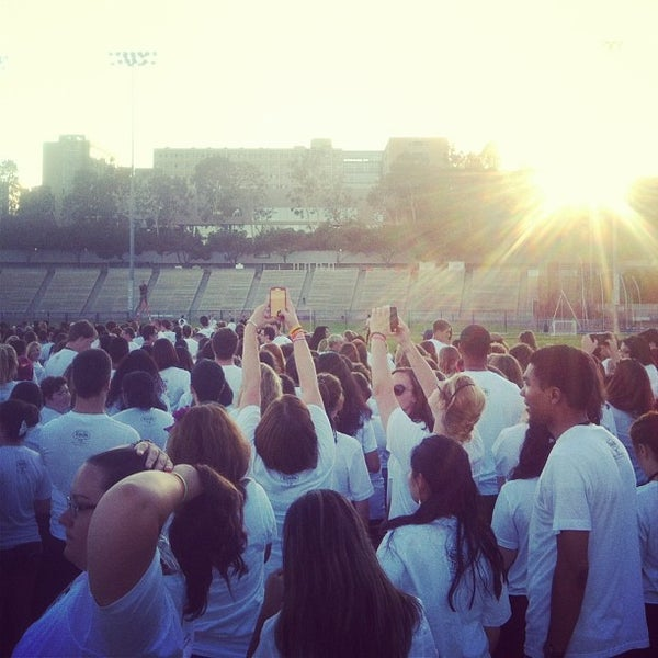Photo taken at UCLA Intramural Field by Gretchen S. on 8/10/2013