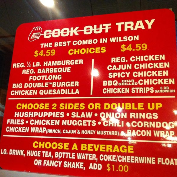 Cookout Restaurant In Wilson Nc