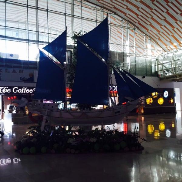 Photo taken at Sultan Hasanuddin International Airport (UPG) by Danielle K. on 3/11/2015