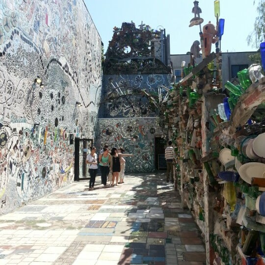 Photo taken at Philadelphia's Magic Gardens by S. on 4/27/2013